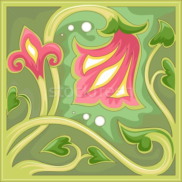 Floral Tile Design Stock photo © lenm