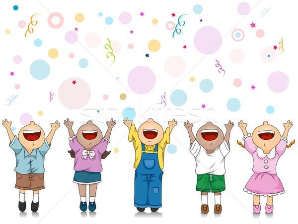 Kutlama örnek çocuklar özel gün çocuklar Stok fotoğraf © lenm