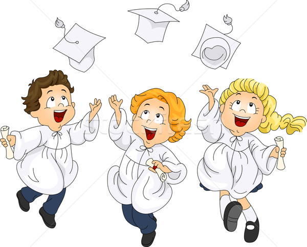 Graduates Jump Stock photo © lenm