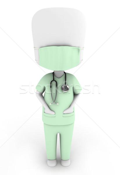 Doktor 3d illustration adam takım elbise Stok fotoğraf © lenm