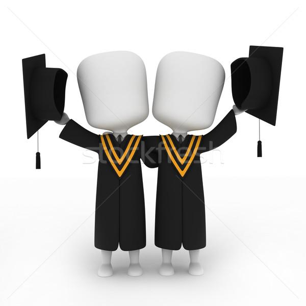 Graduates Posing Next to Each Other Stock photo © lenm