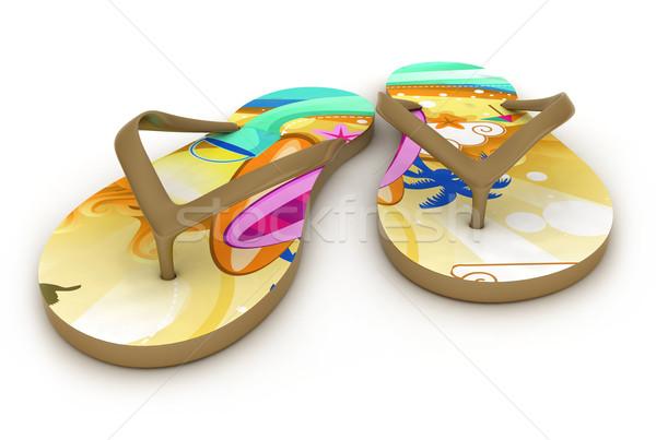 3d illustration renkli korkak 3D örnek gündelik Stok fotoğraf © lenm