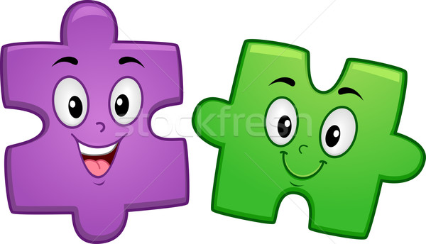 Puzzle Mascot Stock photo © lenm