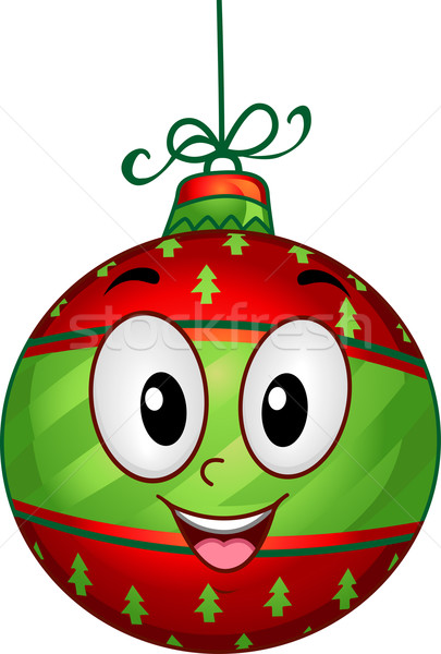 Stock photo: Christmas Ball Mascot