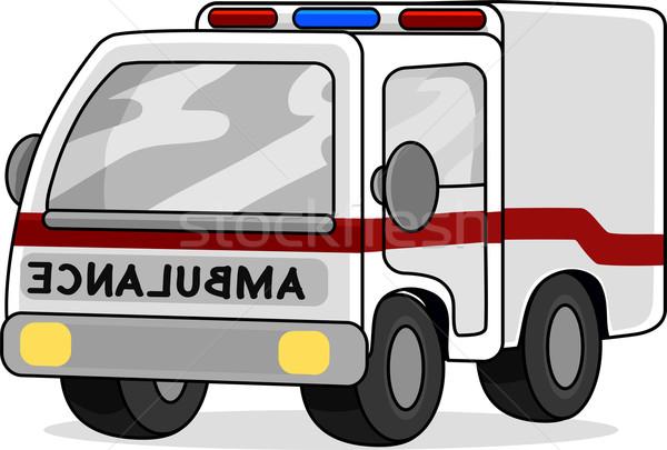 Brinquedo ambulância ilustração projeto móvel transporte Foto stock © lenm