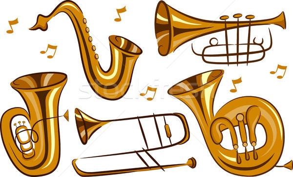 Wind Instruments Stock photo © lenm
