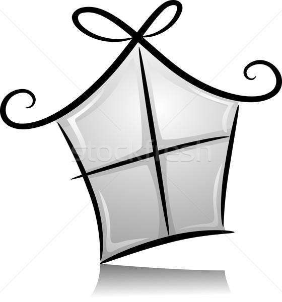 Souvenir shop bianco nero illustrazione articolo design Foto d'archivio © lenm