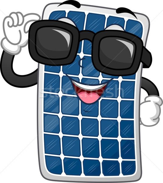 Napelem kabala illusztráció visel sötét szemüveg Stock fotó © lenm