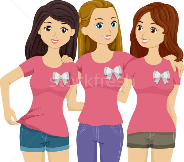 örnek üç güzel kızlar Stok fotoğraf © lenm
