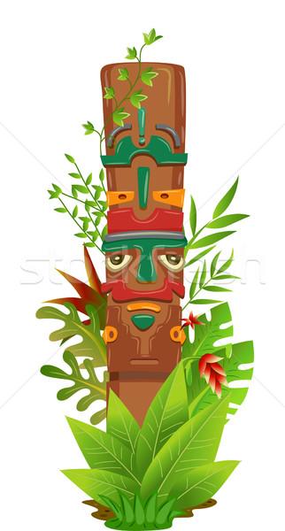 Dżungli słup ilustracja roślin projektu zielone Zdjęcia stock © lenm