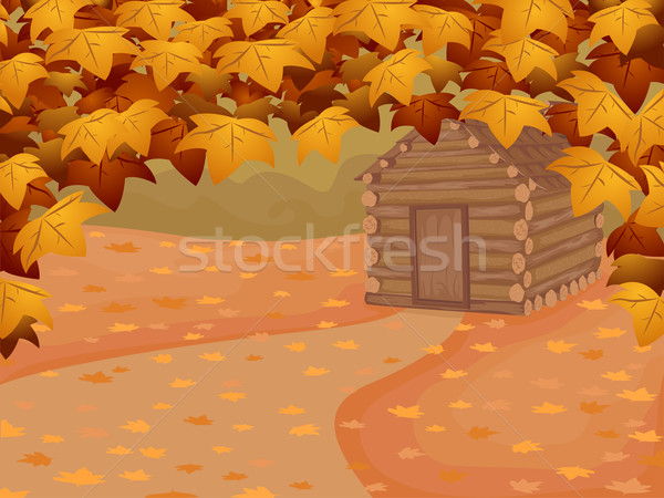 Log Cabin Background Stock photo © lenm