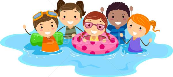 Pool Kids Stock photo © lenm