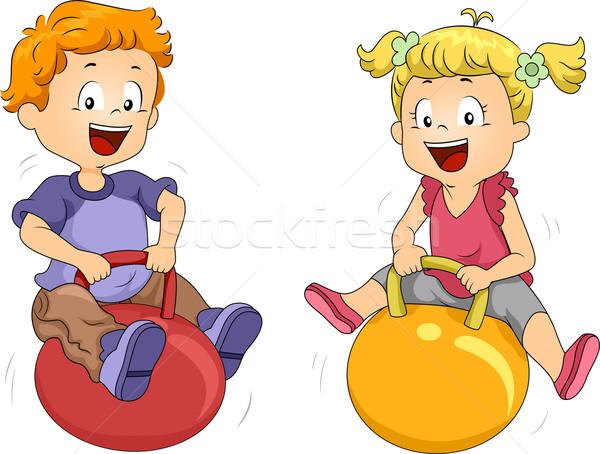 Bouncing Balls Stock photo © lenm