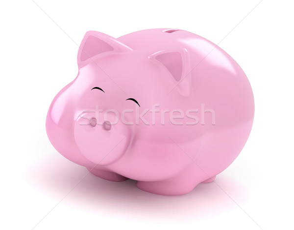 Happy Piggy Bank Stock photo © lenm