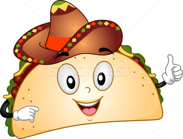 Mascote ilustração comida desenho animado fast-food Foto stock © lenm
