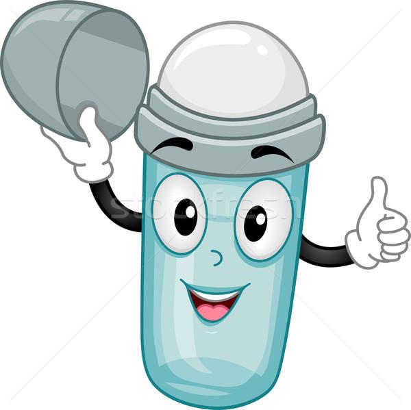 Abrir desodorante mascote ilustração projeto Foto stock © lenm