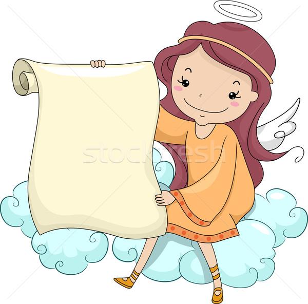 Nina ángel desplazamiento ilustración sesión Foto stock © lenm