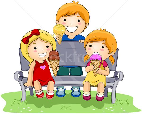 Eating Ice Cream Stock photo © lenm
