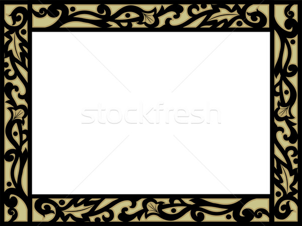 Frame with Filigree Border Stock photo © lenm