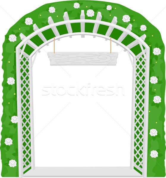 Benvenuto arch giardino illustrazione viti vettore Foto d'archivio © lenm