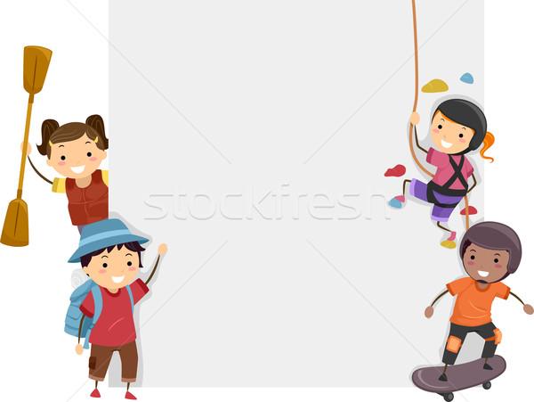 Sports Adventure Board Stock photo © lenm
