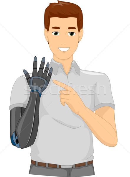 Man Prosthetic Arm Stock photo © lenm