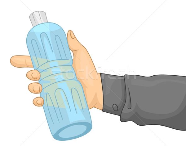 Hand Plastic Bottle Stock photo © lenm