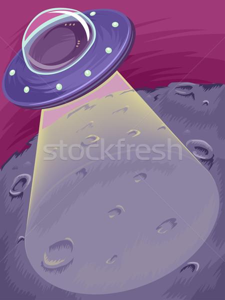 Stock fotó: űr · hajó · nyaláb · illusztráció · fény · tudomány