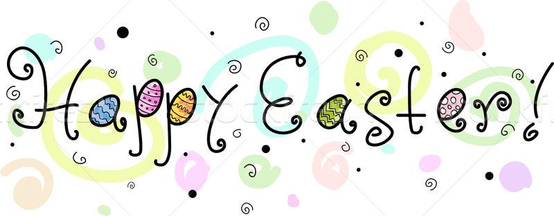 Kellemes húsvétot szöveg húsvét üdvözlet tavasz ünneplés Stock fotó © lenm
