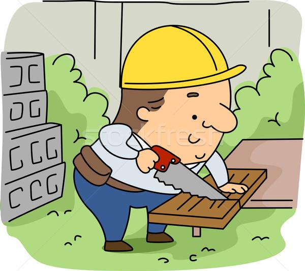 Woodcutter Stock photo © lenm