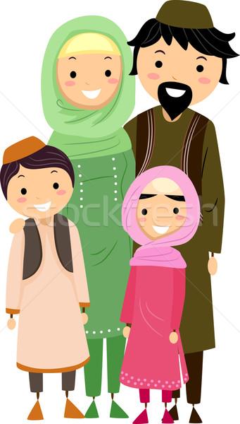 Muslim Family Stock photo © lenm