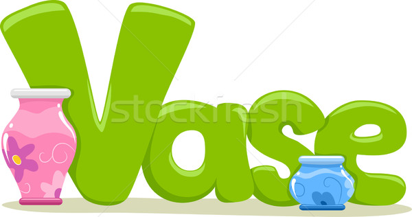 Vase texte illustration mot lettre lecture Photo stock © lenm