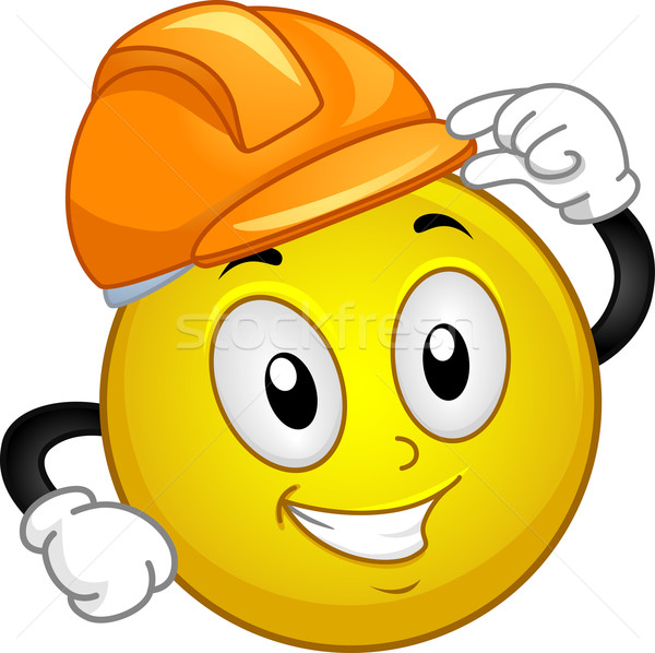 Hard Hat Smiley Stock photo © lenm