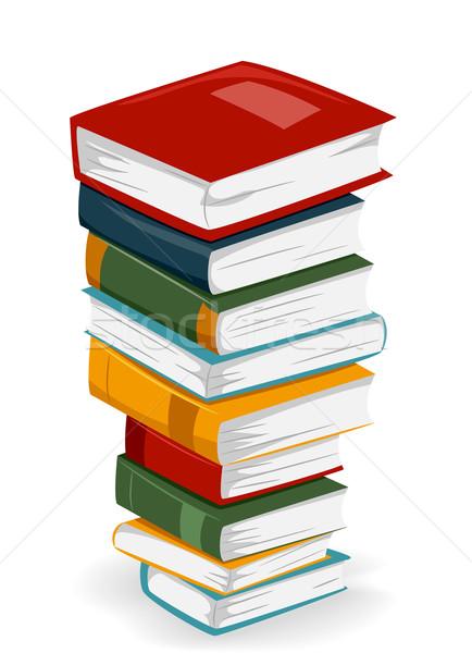 книга иллюстрация высокий книгах различный Сток-фото © lenm