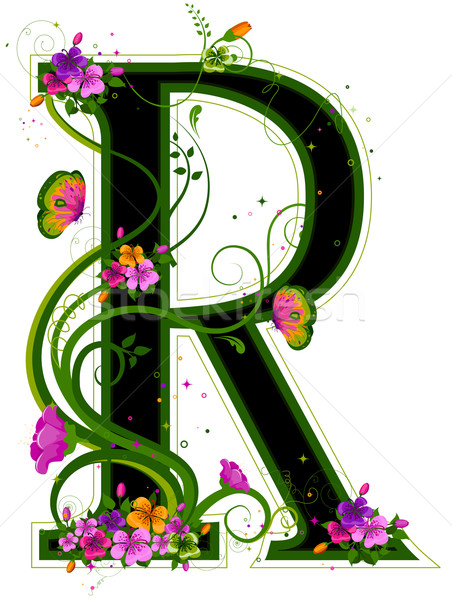 Floral Alphabet Stock photo © lenm