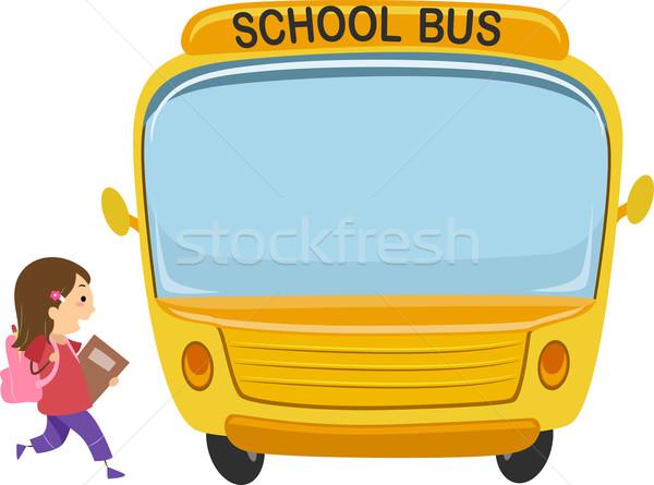 School Bus Kid Stock photo © lenm