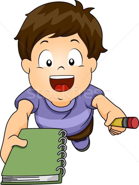 Escrita solicitar ilustração menino alguém Foto stock © lenm