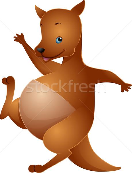 Kangoeroe illustratie cute golf dier Stockfoto © lenm