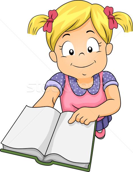 Girl Book Invite Stock photo © lenm