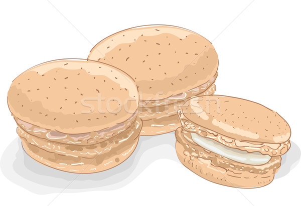 Macaroons Sketch Stock photo © lenm