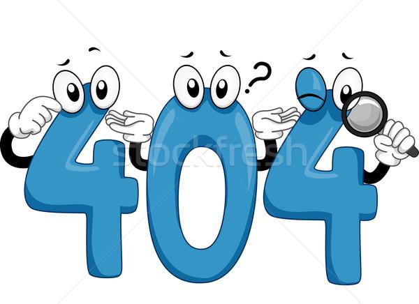 404 mascotte illustrazione errore di siti web Foto d'archivio © lenm