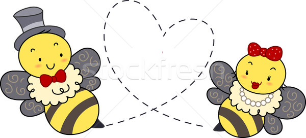 Stock photo: Honey Bee Couple