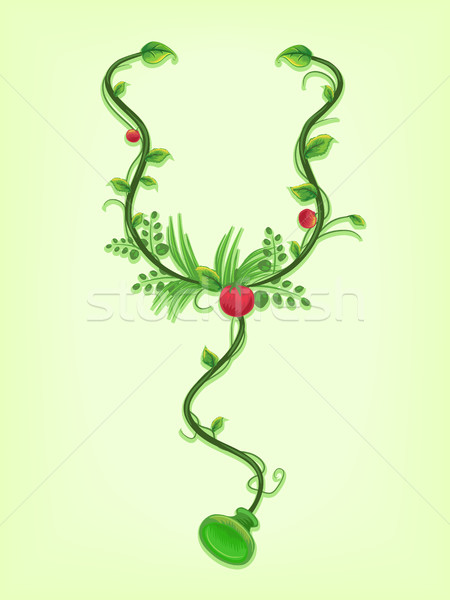 Stethoscope Vines Alternative Medicine Stock photo © lenm
