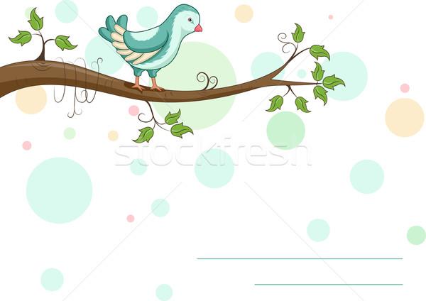 Card Bird Stock photo © lenm