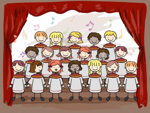 Children's Choir Stock photo © lenm