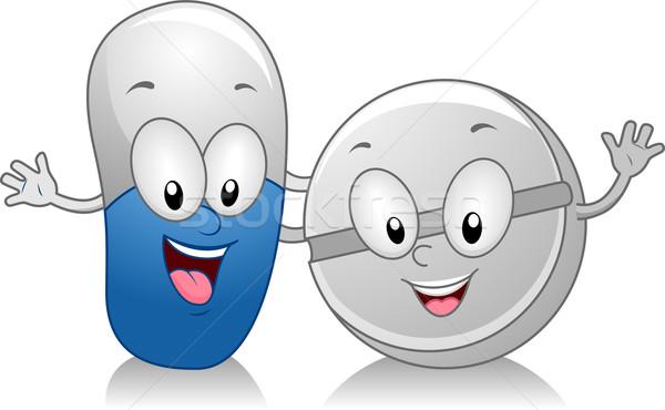 капсула таблетка иллюстрация Постоянный сторона медицинской Сток-фото © lenm