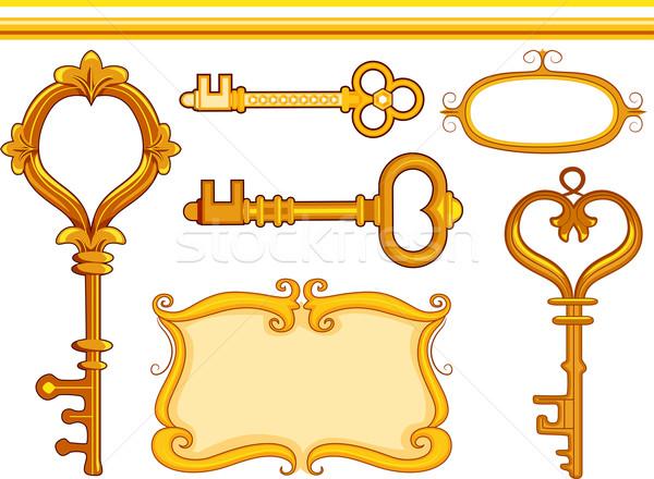 Vintage Keys Stock photo © lenm