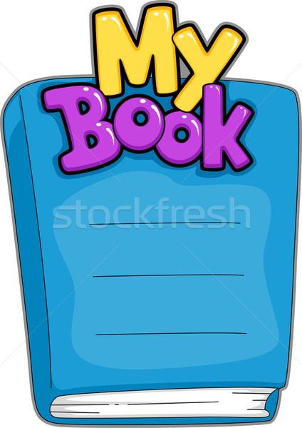 Könyv név tányér illusztráció testreszabható tárgy Stock fotó © lenm