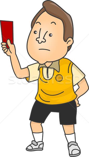 Masculino futebol árbitro ilustração chateado Foto stock © lenm