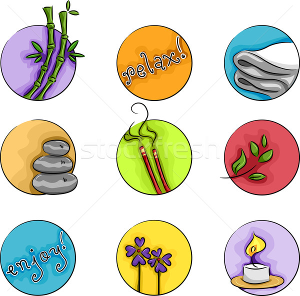 Wellness Icons Stock photo © lenm